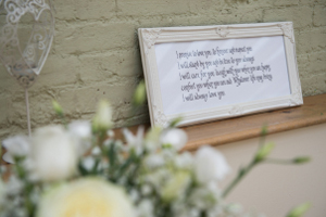 Hand lettered poetry